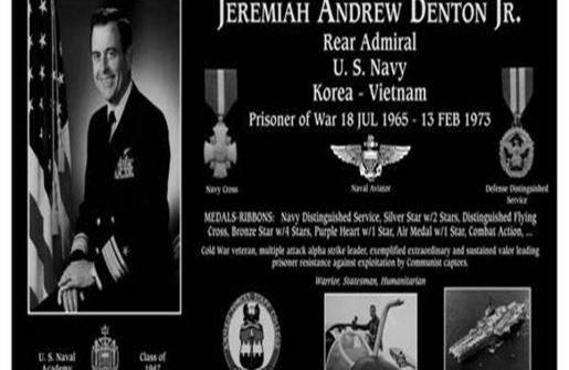 In Memoriam: Admiral Jeremiah A. Denton, Jr. Passed Away Friday March 28, 2014;