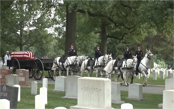See this Video: Full Military Honors Burial Ceremony at Arlington National Cemetery of True American Hero, Rear Admiral Jeremiah A. Denton, Jr.
