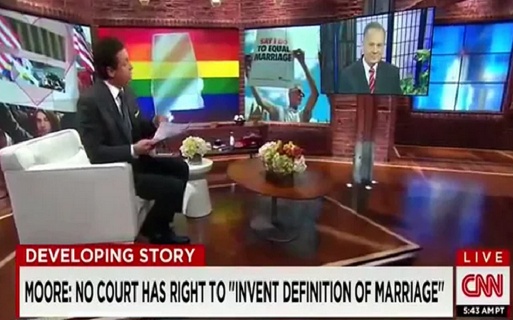 Alabama's Chief Justice Moore Cleans CNN Host's Clock in Same-Sex Marriage Debate