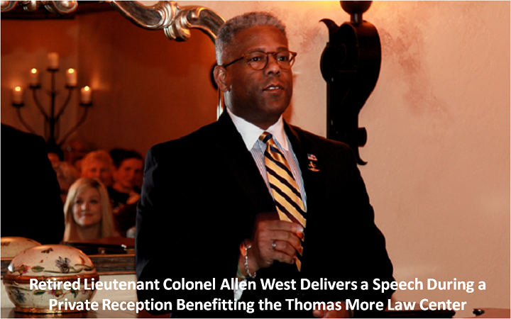 "Colonel Allen West – ""Thomas More Law Center is 'Tip of the Spear' in the fight against Islam"""